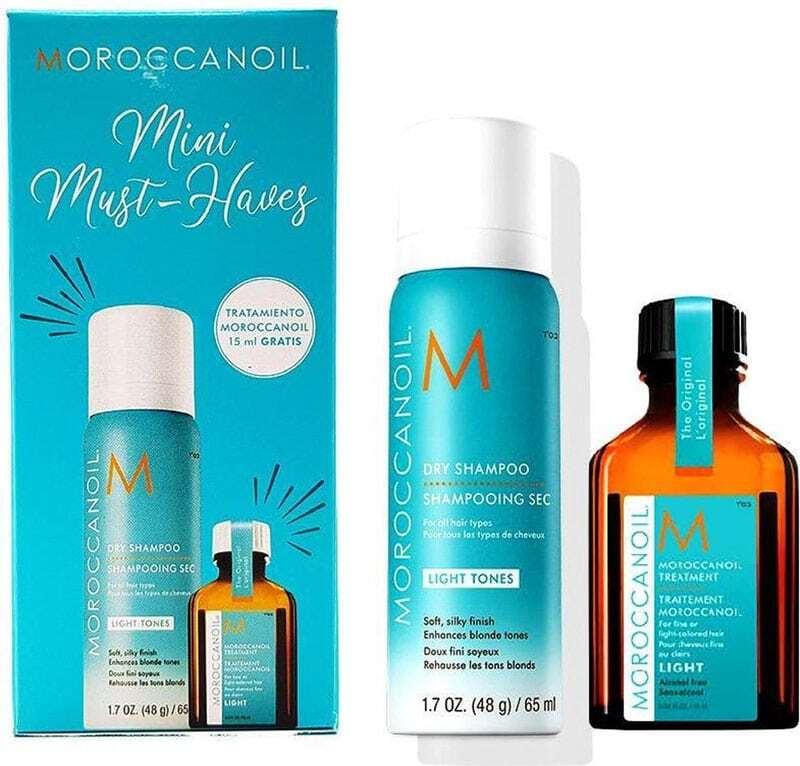 Moroccanoil Mini Must-Haves Hair Oils and Serum 15ml Combo: Hair Oil Treatment 15 Ml + Dry Shampoo Light Tones 65 Ml (All Hair Types)