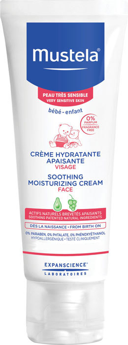 Mustela Bébé Soothing Moisturizing Face Cream Day Cream 40ml (For All Ages)