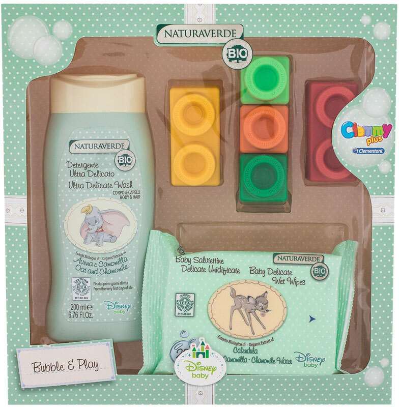 Naturaverde Baby Shower Gel 200ml Combo: Shower Gel Ultra Delicate Wash 200 Ml + Baby Delicate Wet Wipes 20 Pcs + Color Blocks 5 Pcs