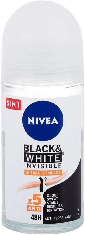 Nivea Black & White Invisible Ultimate Impact 48H Antiperspirant 50ml (Roll-On - Alcohol Free)