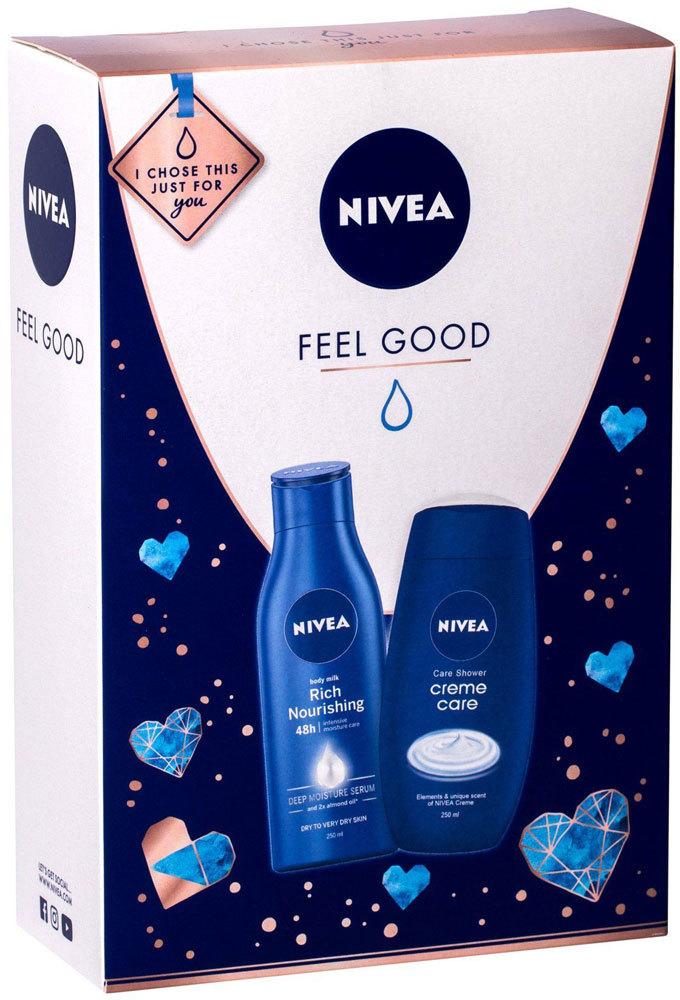 Nivea Creme Care Shower Cream 250ml + Body Lotion Rich Nourishing 250ml