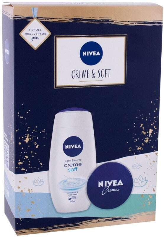 Nivea Creme Soft Shower Gel 250ml Combo: Shower Gel Creme Soft 250 Ml + Creme 75 Ml