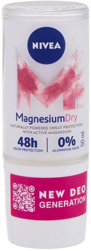 Nivea Magnesium Dry Antiperspirant 50ml (Roll-On - Alcohol Free - Aluminium Free)