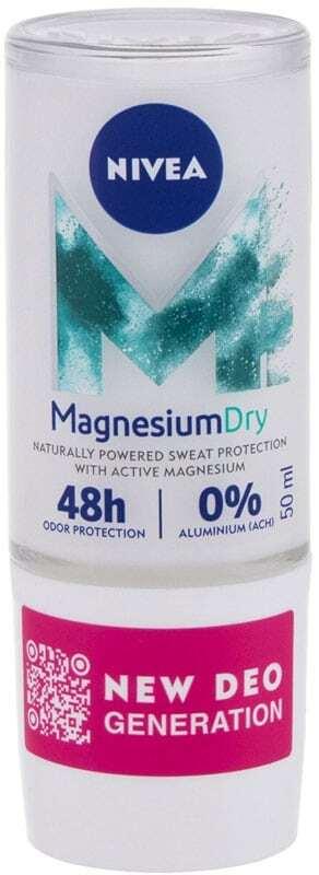 Nivea Magnesium Dry Fresh Antiperspirant 50ml (Roll-On - Alcohol Free - Aluminium Free)