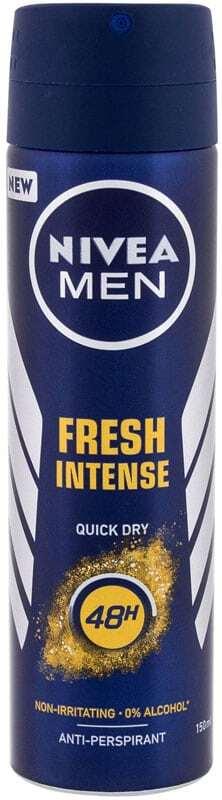 Nivea Men Fresh Intense 48H Antiperspirant 150ml (Deo Spray - Alcohol Free)