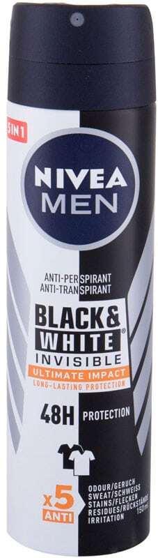 Nivea Men Invisible For Black & White Ultimate Impact 48h Antiperspirant 150ml (Deo Spray - Alcohol Free)