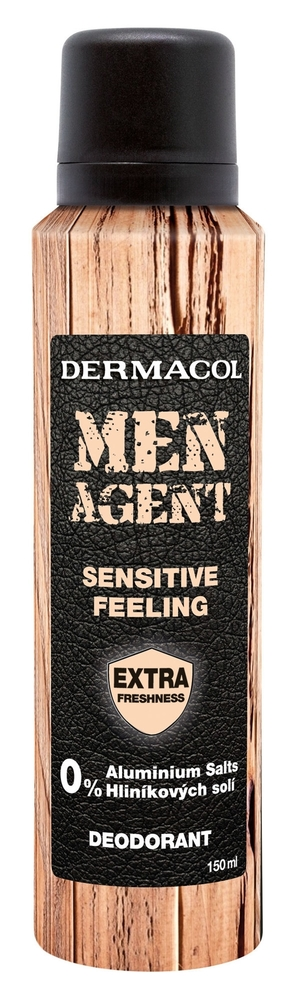 Dermacol Men Agent Sensitive Feeling Deodorant 150ml Aluminum Free (Deo Spray)
