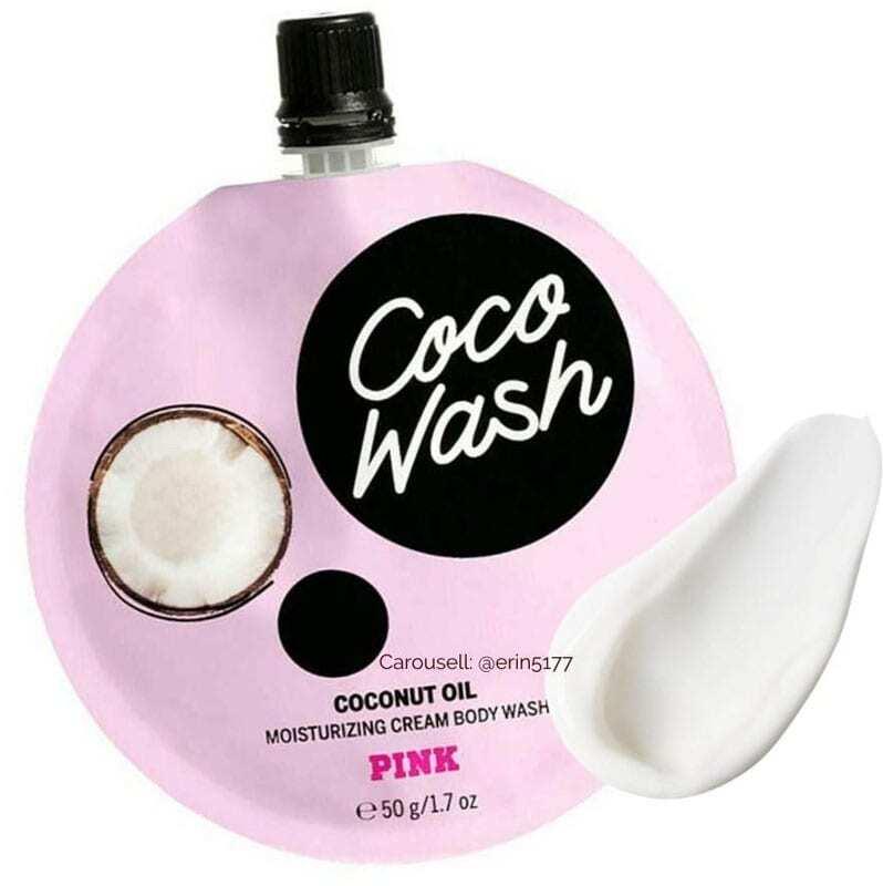 Pink Coco Wash Coconut Oil Cream Body Wash Travel Size Shower Cream 50ml