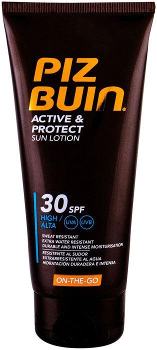 Piz Buin Active & Protect Sun Lotion SPF30 Sun Body Lotion 100ml (Waterproof)