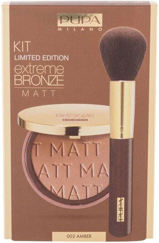 Pupa Extreme Bronze Matt Bronzer 002 Amber 8gr Combo: Bronzer Extreme Bronze Matt 8 G + Cosmetic Brush