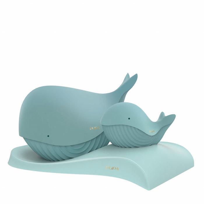 Pupa Whales Makeup Palette 002 21,8gr Combo: Makeup Palette Pupa Whale 4 21,8 G + Makeup Pallete Pupa Whale 1 5,6 G + Stand 1 Pc