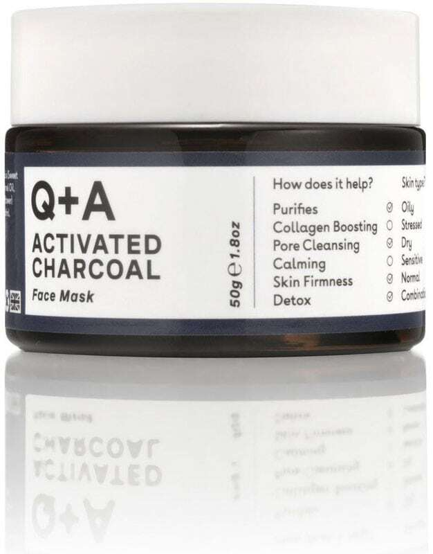 Q+a Activated Charcoal Face Mask 50gr (For All Ages)
