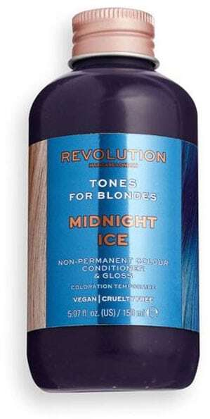 Revolution Haircare London Tones For Blondes Hair Color Midnight Ice 150ml (Colored Hair - Blonde Hair - All Hair Types)