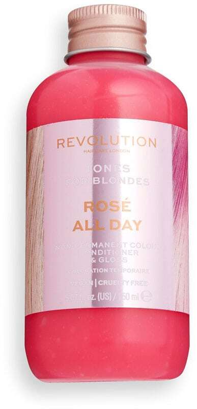 Revolution Haircare London Tones For Blondes Hair Color Rosé All Day 150ml (Colored Hair - Blonde Hair - All Hair Types)