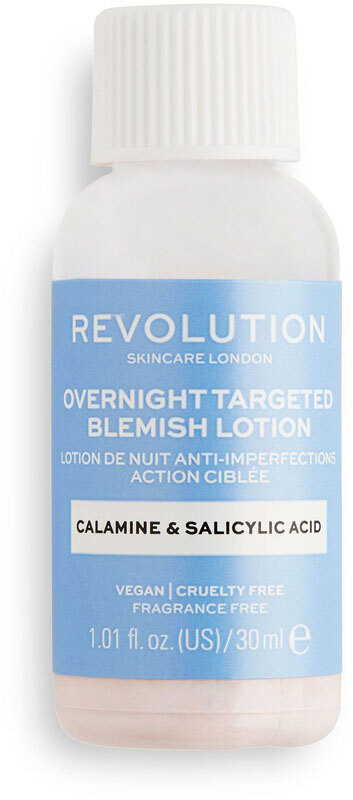 Revolution Skincare Overnight Targeted Blemish Lotion Calamine & Salicid Acid Local Care 30ml