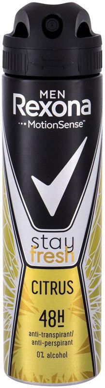 Rexona Men Stay Fresh Citrus 48h Antiperspirant 150ml (Deo Spray - Alcohol Free)