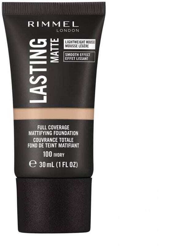 Rimmel London Lasting Matte Full Coverage Makeup 100 Ivory 30ml