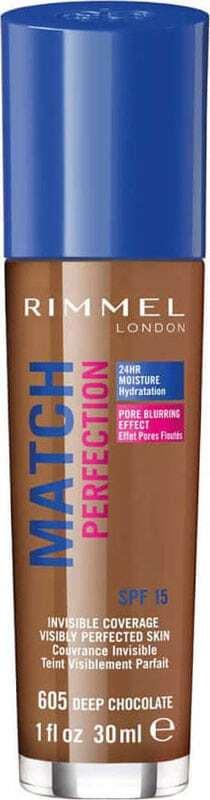 Rimmel London Match Perfection SPF15 Makeup 605 Deep Chocolate 30ml Damaged Flacon