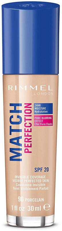 Rimmel London Match Perfection SPF20 Makeup 90 Porcelain 30ml