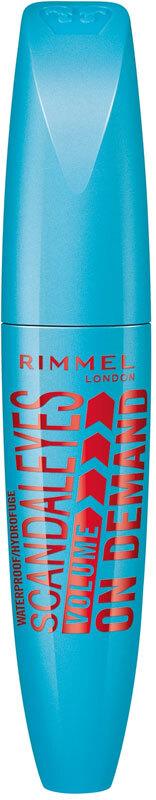 Rimmel London Scandal Eyes Volume On Demand Waterproof Mascara 001 Black 12ml (Waterproof)