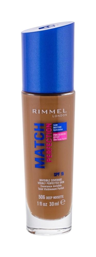 Rimmel London Match Perfection Makeup 30ml Spf15 506 Deep Noisette (Stredni - Tekuta)
