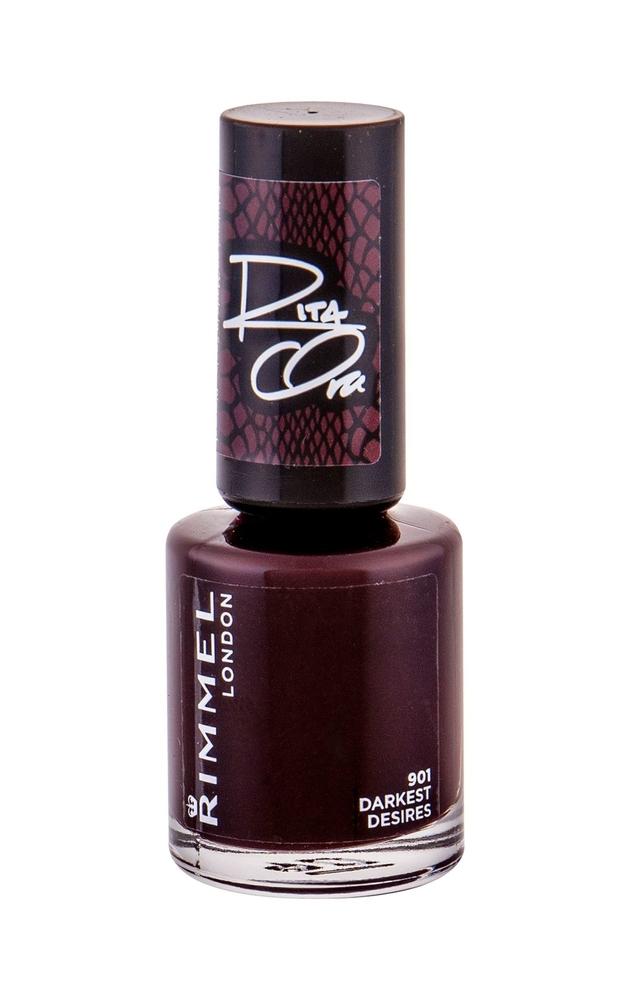 Rimmel London 60 Seconds By Rita Ora Nail Polish 8ml 901 Darkest Desires