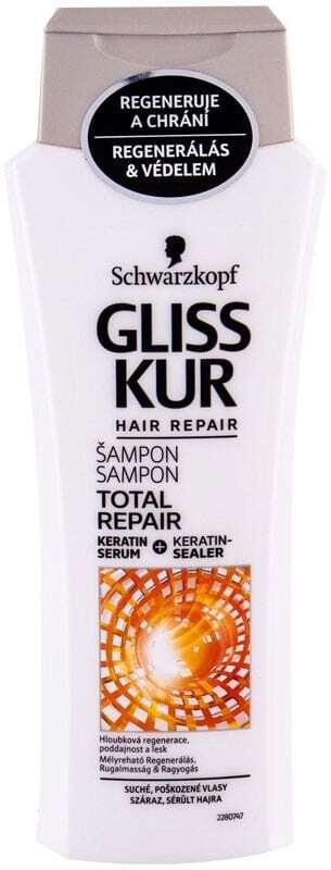 Schwarzkopf Gliss Kur Total Repair Shampoo 250ml (Damaged Hair - Dry Hair)