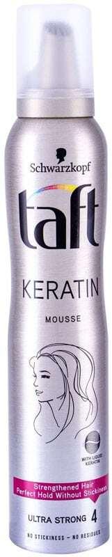 Schwarzkopf Taft Keratin Hair Mousse 200ml (Extra Strong Fixation)