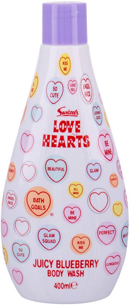 Swizzels Love Hearts Juicy Blueberry Shower Gel 400ml