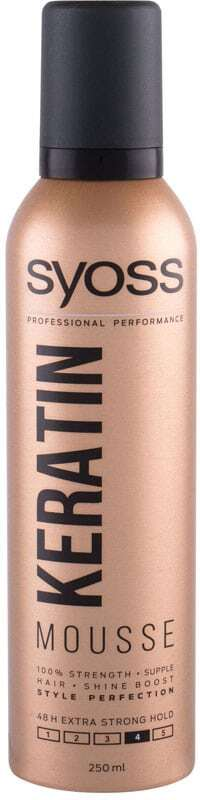 Syoss Professional Performance Keratin Mousse Hair Mousse 250ml (Extra Strong Fixation)
