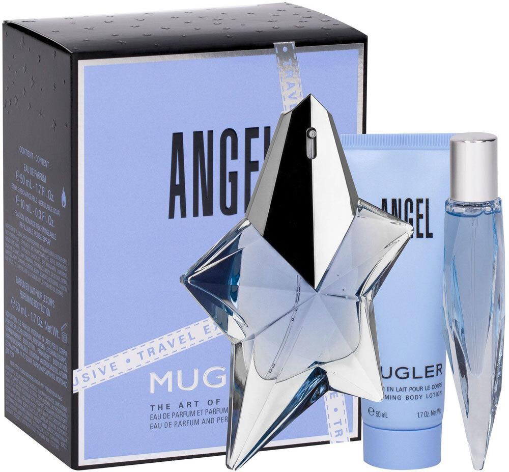 Thierry Mugler Angel Eau de Parfum 50ml Combo: Edp 50 Ml + Edp 10 Ml + Body Lotion (Refillable)