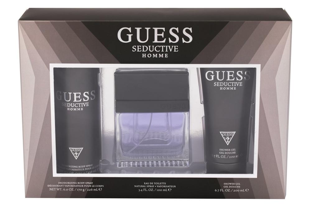 Guess Seductive Homme Eau de Toilette 100ml Combo Edt 100 Ml + Deodorant 226 Ml + Shower Gel 200 Ml