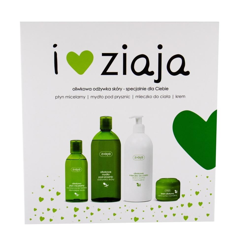 Ziaja Natural Olive Shower Gel 500ml + Body Lotion 400ml + Day Cream 50ml + Micelar Water 200ml