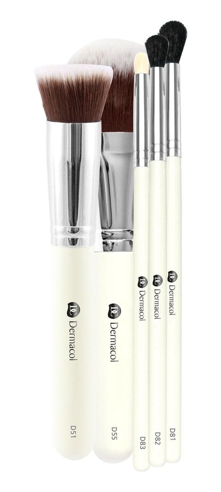 Dermacol Brushes Brush 1pc Combo: Cosmetic Brush D51 1 Pc + Cosmetic Brush D55 1 Pc + Cosmetic Brush D82 1 Pc + Cosmetic Brush D81 1 Pc + Cosmetic Brush D83 1 Pc