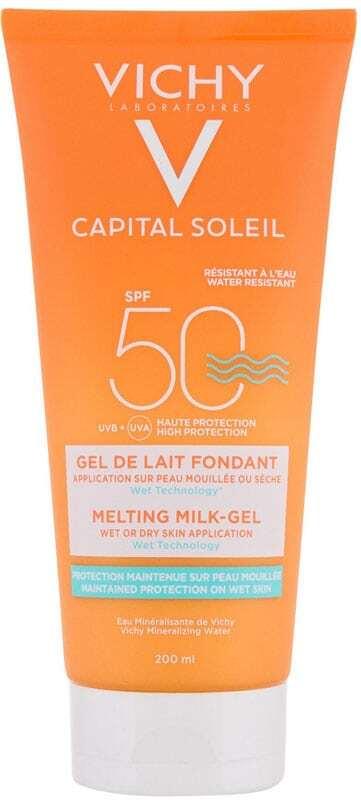 Vichy Capital Soleil Melting Milk-Gel SPF50 Sun Body Lotion 200ml (Waterproof)