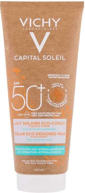 Vichy Capital Soleil Solar Eco-Designed Milk SPF50 Sun Body Lotion 200ml (Waterproof)