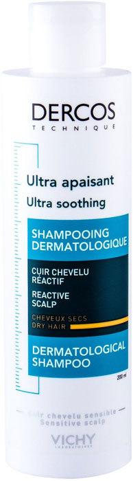 Vichy Dercos Ultra Soothing Dry Hair Shampoo 200ml (Sensitive Scalp - Dry Hair)