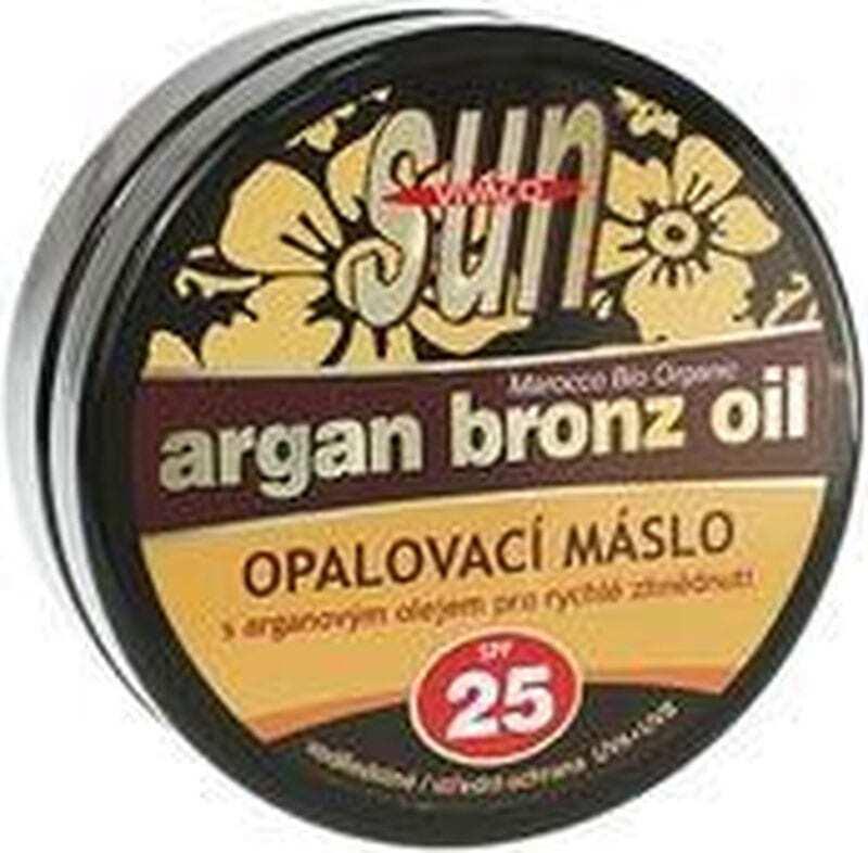 Vivaco Sun Argan Bronz Oil SPF25 Face Sun Care 200ml (Bio Natural Product - Waterproof)