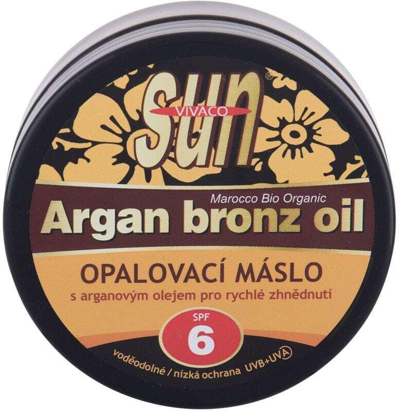 Vivaco Sun Argan Bronz Oil SPF6 Face Sun Care 200ml (Waterproof)