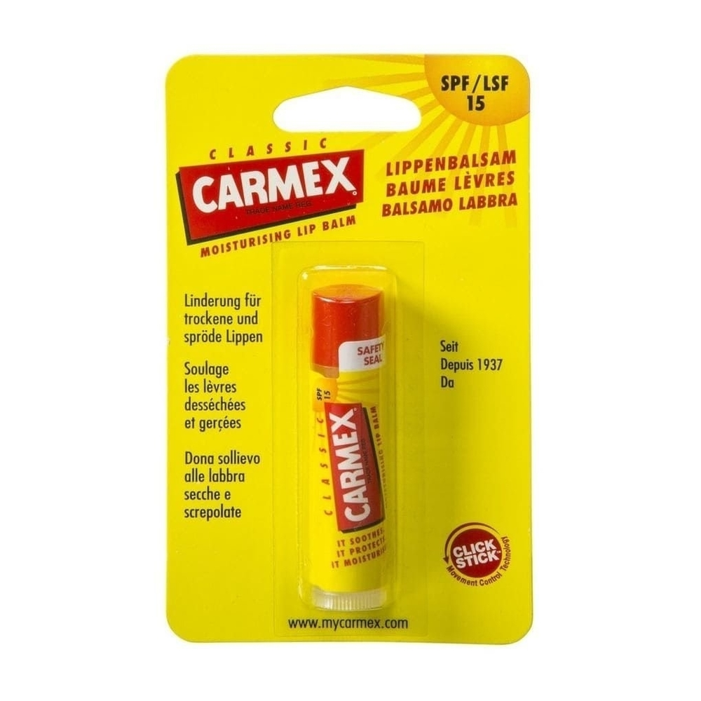 Carmex Classic Lip Balm 4,25gr Spf15 (For All Ages)