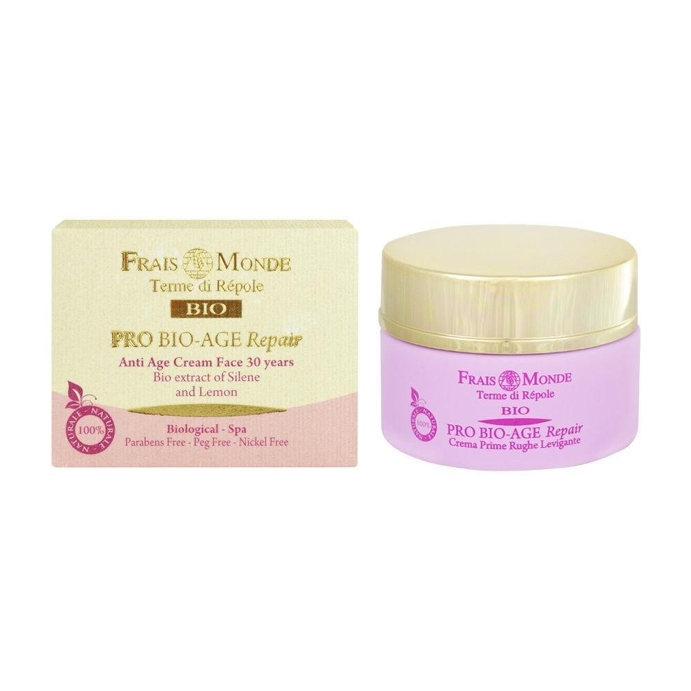 Frais Monde Pro Bio-age Repair Anti Age Face Cream 30 Years Day Cream 50ml (Bio Natural Product - First Wrinkles - Wrinkles - All Skin Types)