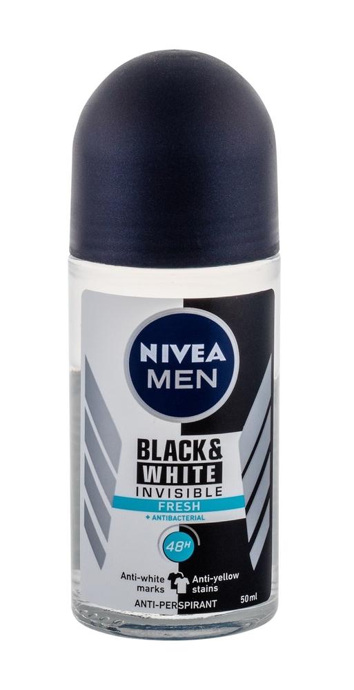 Nivea Men Invisible For Black White 48h Fresh Antiperspirant 50ml Alcohol Free (Roll-on)