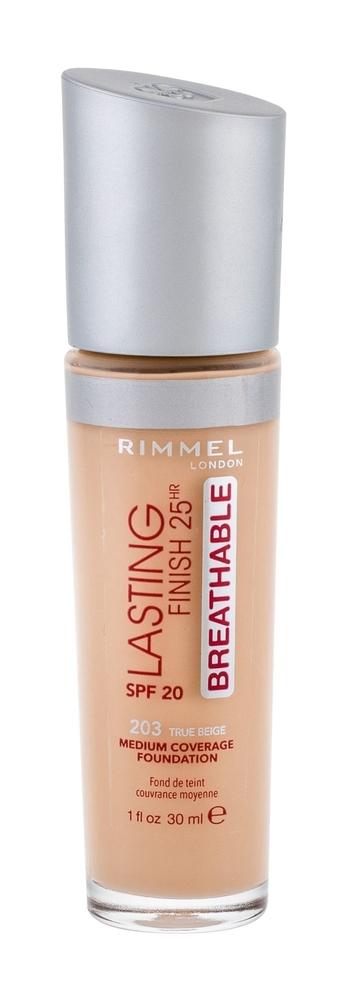 Rimmel London Lasting Finish Breathable Makeup 30ml 25hr Spf20 203 True Beige