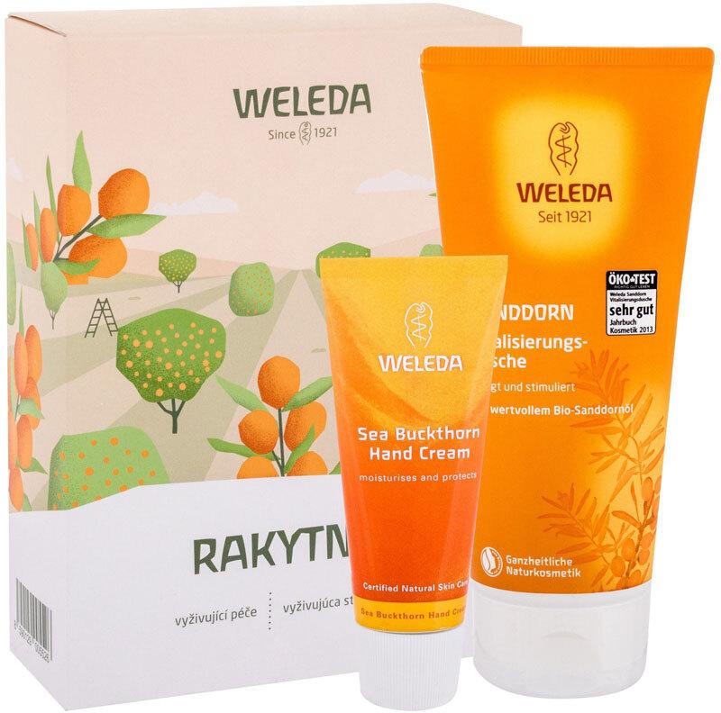 Weleda Sea Buckthorn Shower Cream 200ml Combo: Shower Cream Sea Buckthorn 200 Ml + Hand Cream Sea Buckthorn 50 Ml (Bio Natural Product)