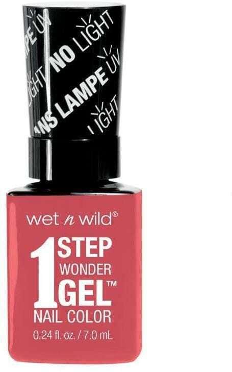 Wet N Wild 1 Step Wonder Gel Nail Color Coral Support 7ml 7251