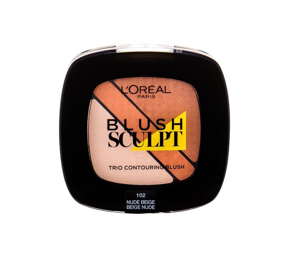 Loreal-makeup Infallible Sculpt Blush Trio 102 Nude Beige