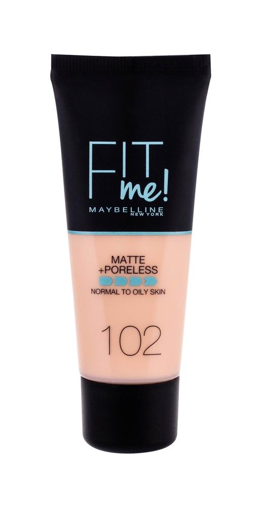 Maybelline Fit Me! Matte + Poreless Makeup 30ml 102 Fair Ivory