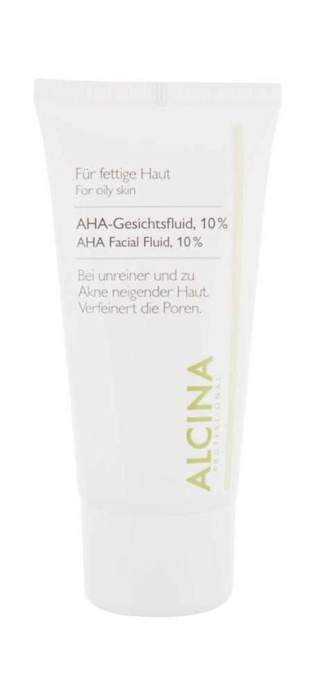Alcina For Oily Skin Aha Facial Fluid, 10% Night Skin Cream 50ml (Oily - For All Ages)