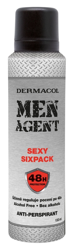 Dermacol Men Agent Sexy Sixpack Antiperspirant 150ml Alcohol Free 48h (Deo Spray)