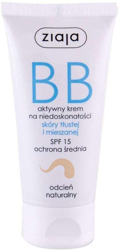 Ziaja BB Cream Oily and Mixed Skin SPF15 BB Cream Natural 50ml